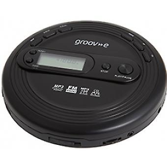 Groov-e GVPS210 Retro Serie Persoonlijke CD Speler met Radio Zwart