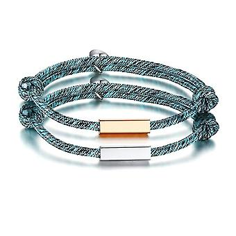 Magnetic couple bracelets for kings and queens