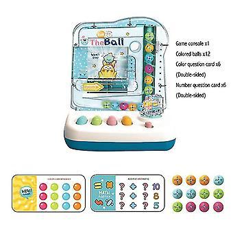 צעצועי למידה של ילדים כחולים מתגלגל צבע כדור תואם טיזרים המוח משחק ההיגיון dt5561