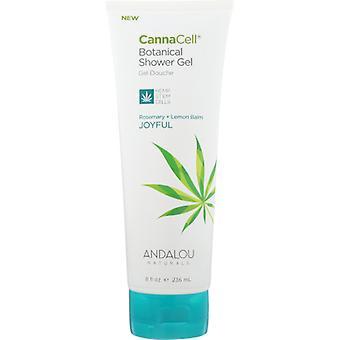 Andalou Naturals Cannacell Shower Gel, Joyful 8 Oz