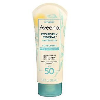 Aveeno Aveeno Positively Mineral Sensitive Skin Sunscreen SPF 50, 3 Oz