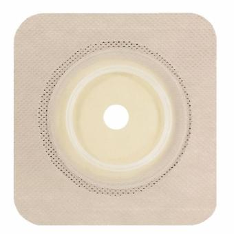 Genairex Ostomy Wafer Securi-T Trim to Fit, Standard Wear Flexible Tape 2-1/4 Inch 2-Piece Up to 1-3/4 Inch , Tan 10 Count
