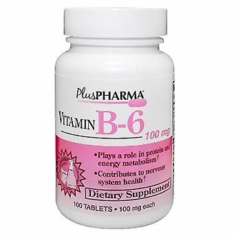 21st Århundre Vitamin B-6, 100mg, 100 Faner