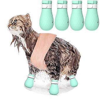 4 csomag szilikon macska cipő anti-scratch Pet Mancs Protector Gromming karmok kiterjed fürdés