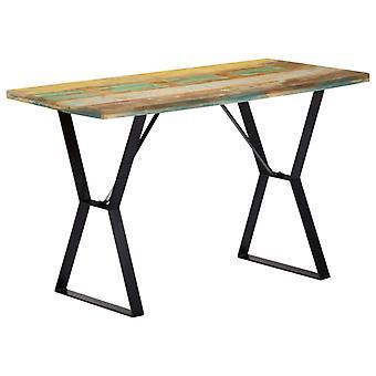 """שולחן אוכל vidaXL 120x60x76 ס""""מ עץ ממוחזר מוצק"""
