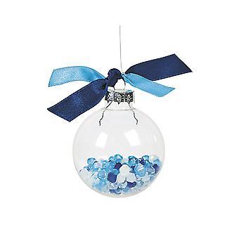 LAST FEW - 12 Medium 5.5cm Clear Glass Ball Christmas Bauble Ornaments for Tree Decoration