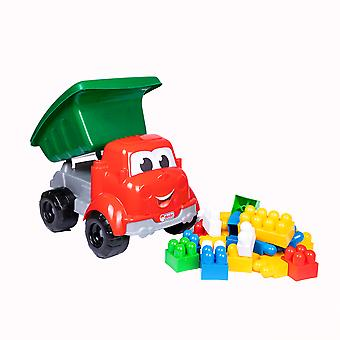 Dede Dump Truck,  Fine Motor Skill Development, Pretend Play,  Truck Toys, 30 Pieces, For 3+ Years Old Boys, Toddler Toys