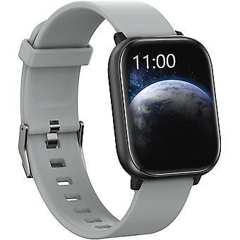Smart Watch voor Android-telefoons Compatibele iPhone Samsung, Health Sport Horloges voor mannen Vrouwen GPS Run Activity Fitness Tracker met bloeddruk hartslagmeter, vervangbare wijzerplaat en band (zilver)