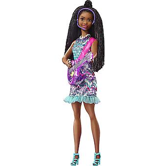 Barbie Co-Lead Doll with Music &Light-Up Feature, Purple Guitar - Chant