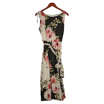 Northstyle Dress Floral Print w/ waist tie Red / Ivory