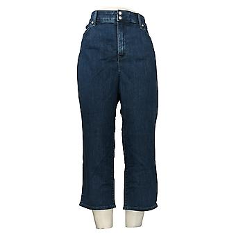 NYDJ Women's Jeans Cool Embrace Skinny Crop With Side Slits Blue A377692