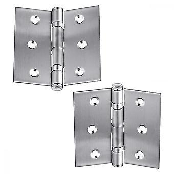 """2pcs Hinge Folding Butt Hinge Hardware Door Hinges For,cabinet Door,closet Doors, 2.5"""""""