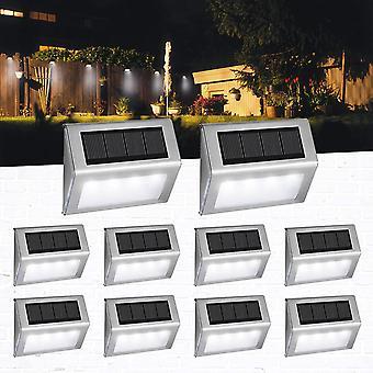 1/4/8Pcs solar energy light sensor wall lights garden step stair deck garden fence lamp waterproof garden decoration