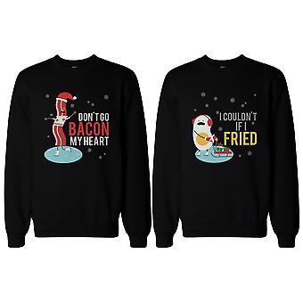 Bacon i jaj para bluzy śmieszne grafiki swetry na zimę