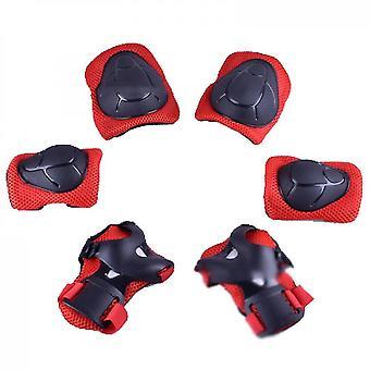 Ginocchiere per bambini con set di ingranaggi protettivi per bambini (rosso)