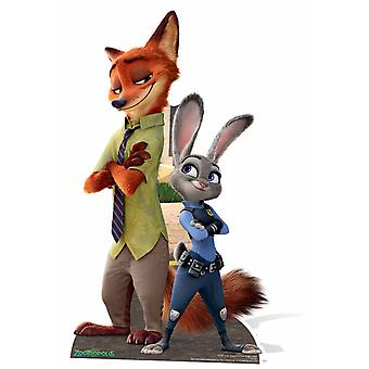 Officer Judy Hopps and Sidekick Nick Wilde Zootropolis Lifesize Cardboard Cutout / Standee / Standup