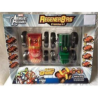Video game consoles regener8rs 8 vehicles in 1 iron man and hulk