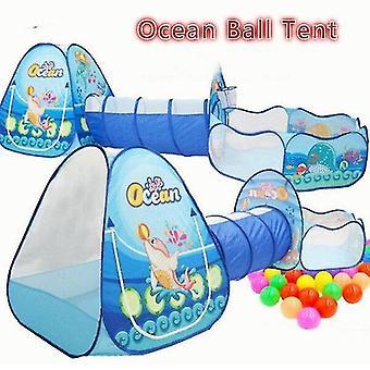 遊ぶ テントトンネルcceanボールテントおもちゃ子供のテントゲームハウスウェーブオーシャンボールプールトンネルテント