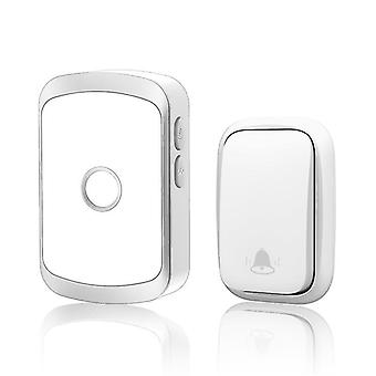 Door bells chimes smart self powered wireless doorbell with no battery waterproof chime 150m remote silver