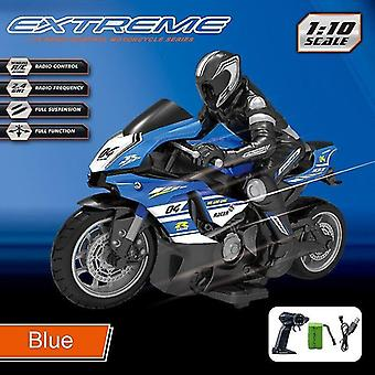 Remote control motorcycles racing and drift motorbike omidirection control children's simulation electric rc toys blue