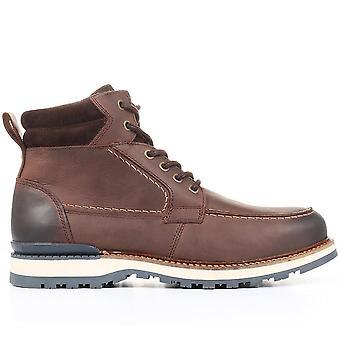 Jones Bootmaker Mens Euston Läder Hiker Stövlar