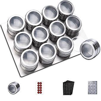 Frasco de especias magnéticas con soporte de almacenamiento de pantalla y etiquetas