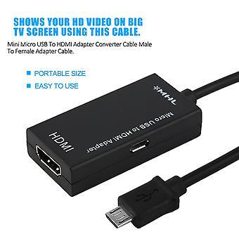 מיני מיקרו USB כדי HDmi מתאם ממיר כבל זכר לנקבה כבל מתאם