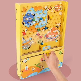 Kinder Schnellfang Baby Holz Lernspiel Hand-Auge Koordination Eltern-Kind Eltern-Kind Interaktives Spielzeug-(grün)