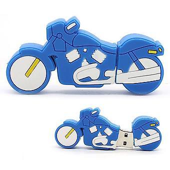 16gb Usb 2.0 Usb Flash Drive Flash Data Storage Motorcycle Blue