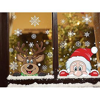 Weihnachtsfensteraufkleber Klammern Schneeflockenaufkleber Fensterdekoration