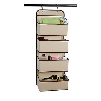Silktaa Wall-mounted Storage Cabinet With Storage Bag Hanging On The Door