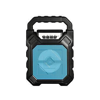 bærbar lys trådløs Bluetooth høyttaler subwoofer mikrofon 3d surround lyd blå