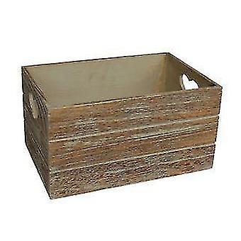 Uppsättning 2 ek effekt hjärtat skär handtag trä lagring Crate