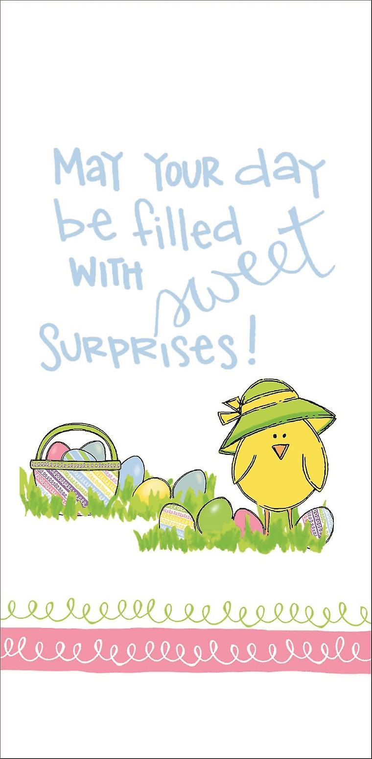 May Day Be Filled With Sweet Surprises Easter Chick Flour Sack Kitchen Towel