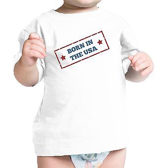 Syntynyt Yhdysvalloissa valkoinen ainutlaatuinen heinäkuu 4 Baby paita puuvilla hattu