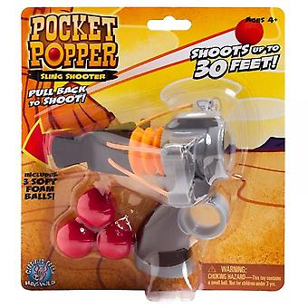 Cheatwell Games Pocket Popper Sling Shooter - Soft Foam Shooter**^