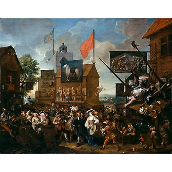 William Hogarth - Southwark Fair Poster Print Giclee