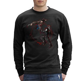 Blood Equinox Wolverine Vs Edward Scissorhands Men's Sweatshirt