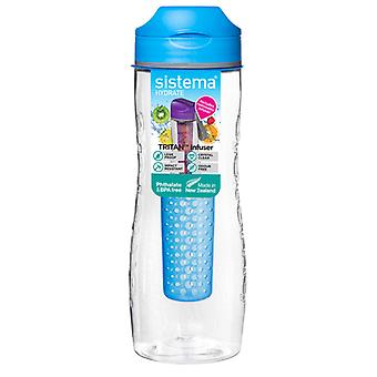 Sistema Tritan Fruit Infuser Bottle 800ml Blue