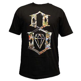 Rebel8 colagem de logotipo t-shirt preto