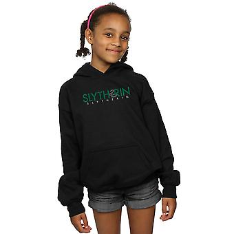 Harry Potter Mädchen Slytherin Text Hoodie