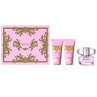 Versace Bright Crystal Gift Set 50ml EDT + 50ml Shower Gel + 50ml Body Lotion