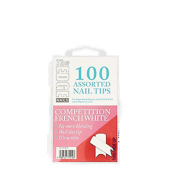 The Edge Nails Competition French White Tips x 100 Assorted
