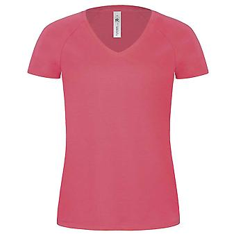 B&C Ladies Blondie Classic Colours Short-sleeved Casual V Neck T-shirt