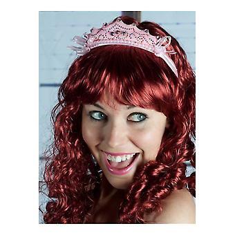 Accessori per capelli ragazze principessa Tiara corona rosa