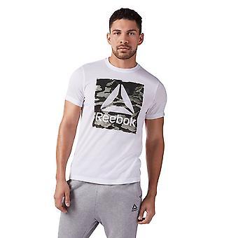 リーボック迷彩デルタ Speedwic CF3848 普遍的なすべての年の男性 t シャツ