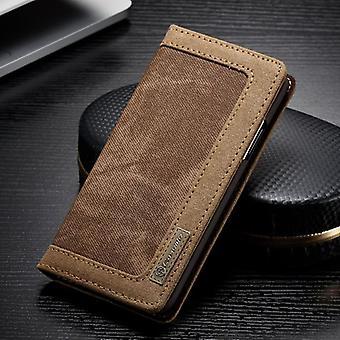 CaseMe Booktasche Flip cas Apple iPhone X / XS housse Housse Etui de protection marron