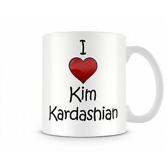 Я люблю Ким Кардашян печатных кружка
