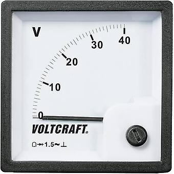 Analogue rack-mount meter VOLTCRAFT AM-72x72/40V 40 V Moving iron