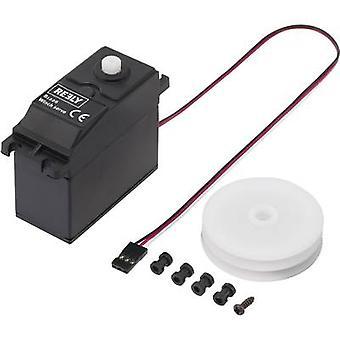 Reely servo Custom Segelwindenservo Digital servo engrenagem caixa plástica do conector sistema material JR